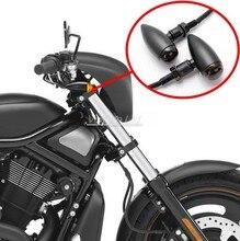 Black Metal Smoke Amber Bullet Universal Turn Signal Light For Suzuki Yamaha Harley Davidson Cafe Racer