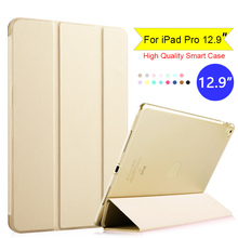 For Apple iPad Pro 12.9 inch 2016 Flip Folio Tablet Smart Case Cover With Auto Wake / Sleep Gold