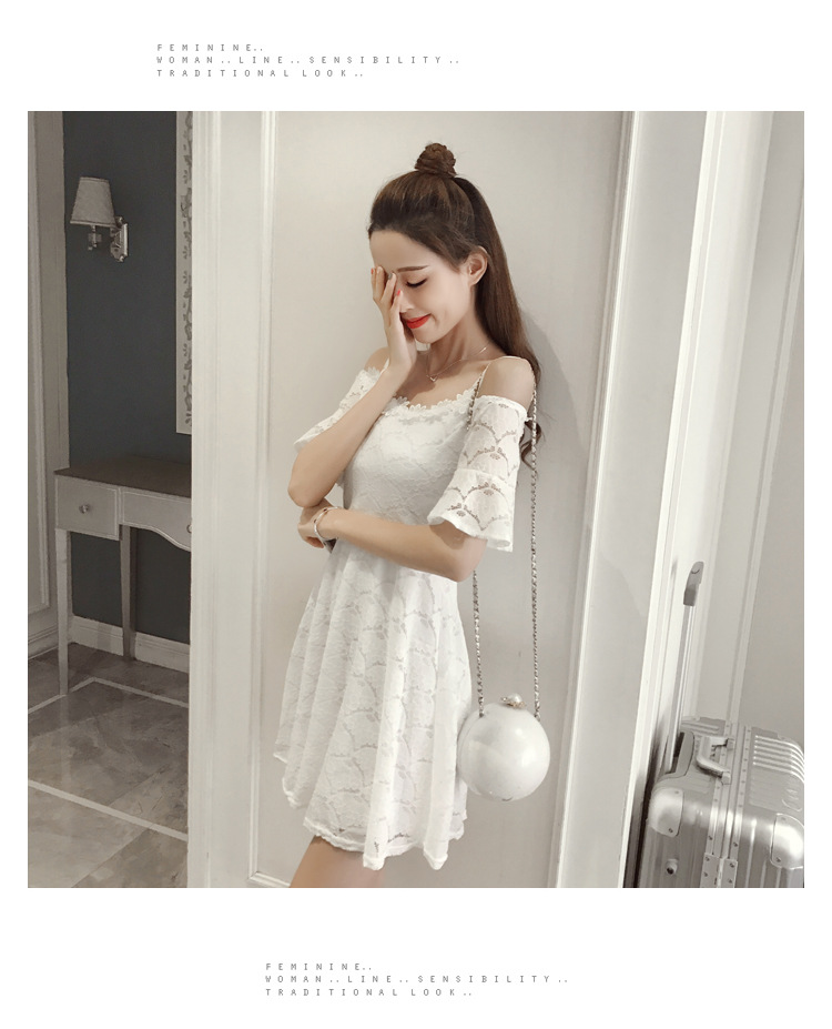 18 New fashion women summer lace sexy dress white Korean style clothes for womens vestido de festa mini white clothings 5