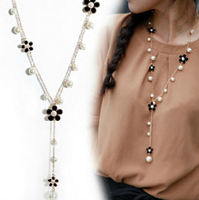 Flower Long Necklace for Women