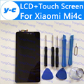 Pantalla lcd + pantalla táctil para xiaomi mi4c nuevo ensamblaje del panel de cristal digitalizador de pantalla para xiaomi mi 4c-envío gratis en stock