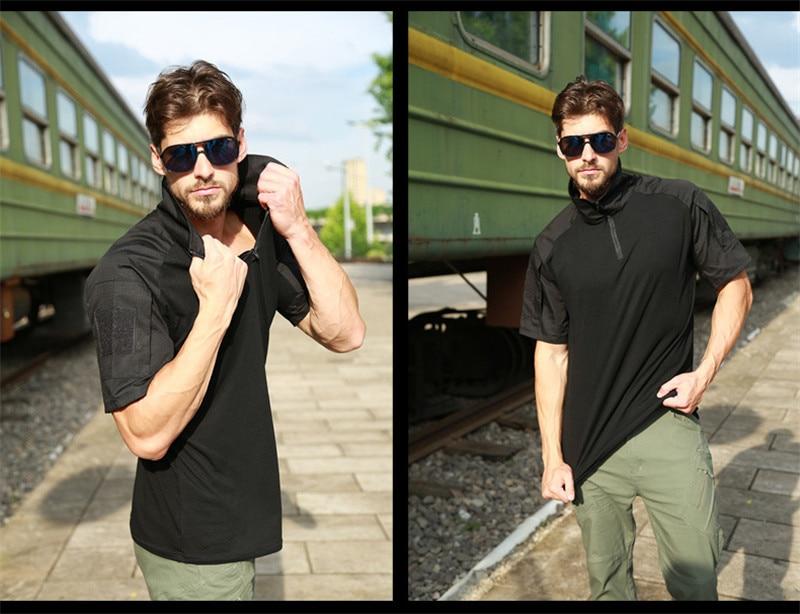anti-suor do exército combate tático t camisa