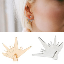 цена на Zinc alloy hot cakes with popular element hollow tree gold plated silly earrings for women