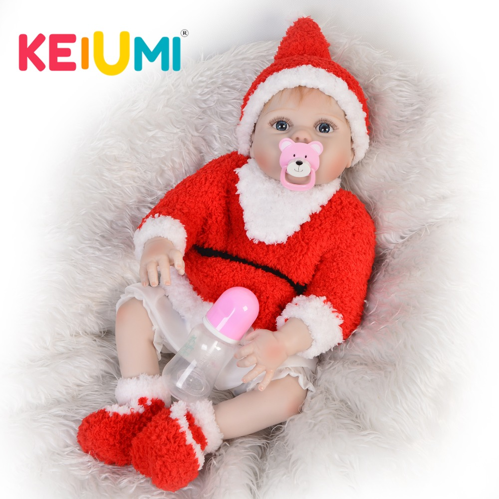 KEIUMI 23 Inch Real Reborn Baby Dolls  Full Silicone Stuffed Lifelike Baby Doll Toy For Kids Birthday Christmas GiftKEIUMI 23 Inch Real Reborn Baby Dolls  Full Silicone Stuffed Lifelike Baby Doll Toy For Kids Birthday Christmas Gift