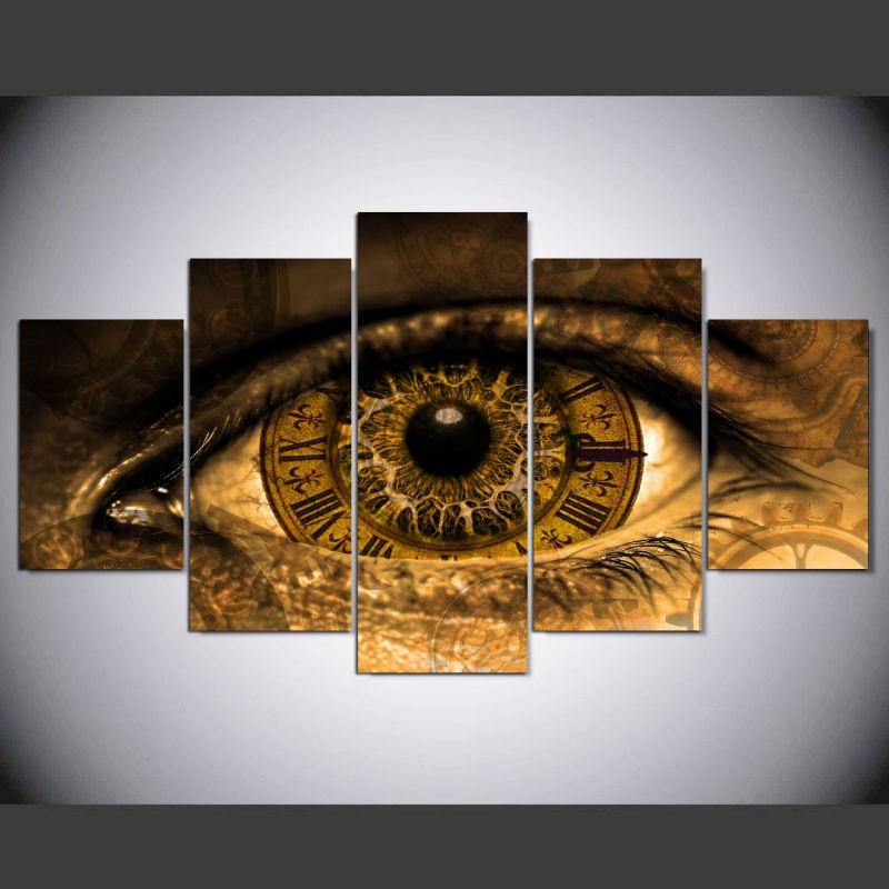 US $8.5 |DAFENJINGMO KUNST 5 panel Moderne steampunk kunstdruck leinwand  kunst wand gerahmte gemälde für wohnzimmer wand bild-in Malerei und ...