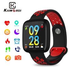 Купить с кэшбэком Fitness Bracelet F15 Sports Wristband Heart Rate Monitor Pedometer Cycling Mode Women Smart Watch Men IP67 for IOS Android