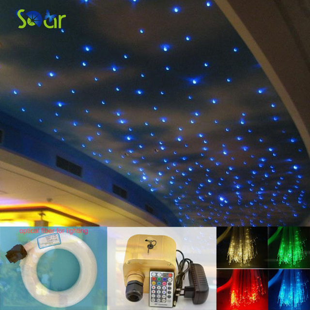 Dimbare 16 W RGBW Twinkle LED Glasvezel Ster Plafond Verlichting Kit ...