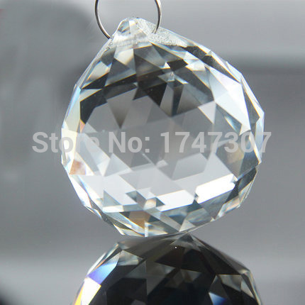 46pcs Top Quality Clear 30mm K9 Crystal Glass Faceted Chandelier Ball Fengshui Suncatcher Ball for Wedding & Home Decoration