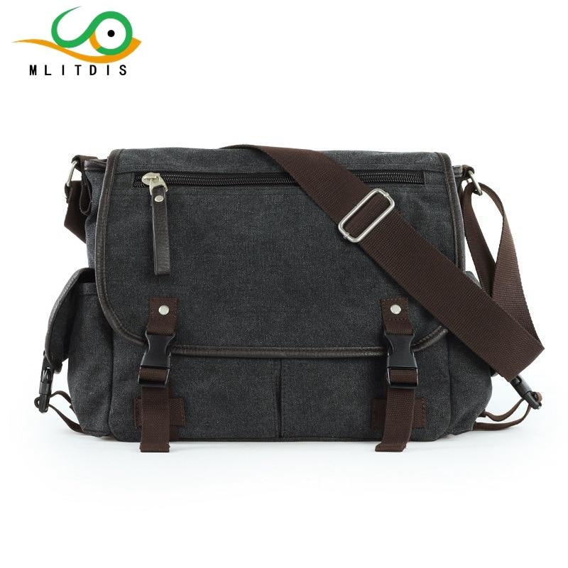 MLITDIS 2017 Hot News Men Bag High Quality Canvas Men Messenger Bags Casual School Bag Men's Shoulder Crossbody Travel Bag casual canvas satchel men sling bag