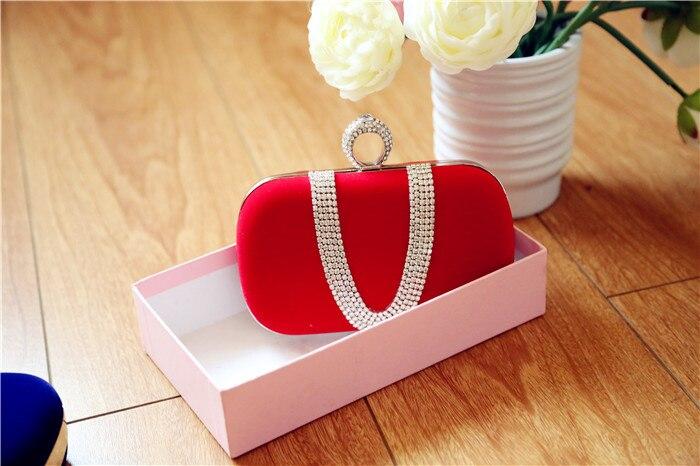 Bolsos Nuevo lleno de diamantes anillo de boda de gamuza bolso del partido paque