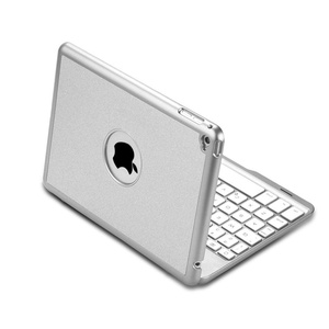 Image 3 - For iPad mini 1/2/3/4/5 Ultra Thin Smart Aluminum Bluetooth Russian/Spanish/Hebrew Keyboard Case Cover With 7 Colors LED Backlit