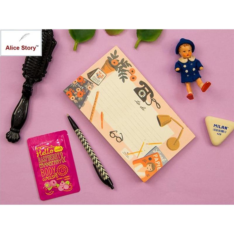 Alice Story Planificator de sosire noi Coloful Life to Do List Birou - Blocnotesuri și registre