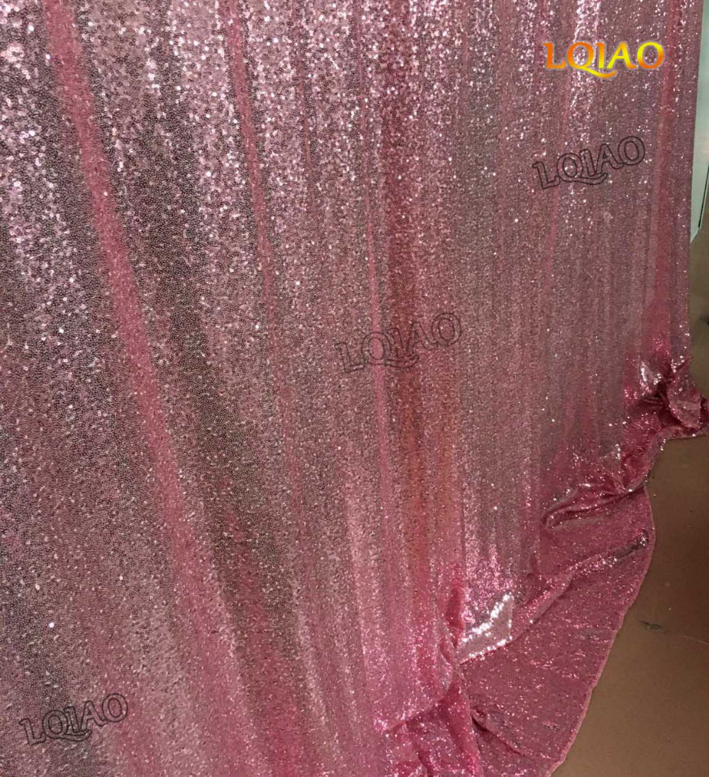 Pink Sequin Curtains Us 77 87 5 Off 10ftx10ft Sequin Backdrop Pink Gold Sequin Fabric Wedding Photo Booth Christmas Decoration Sequin Curtains Drapes Sequin Panels In