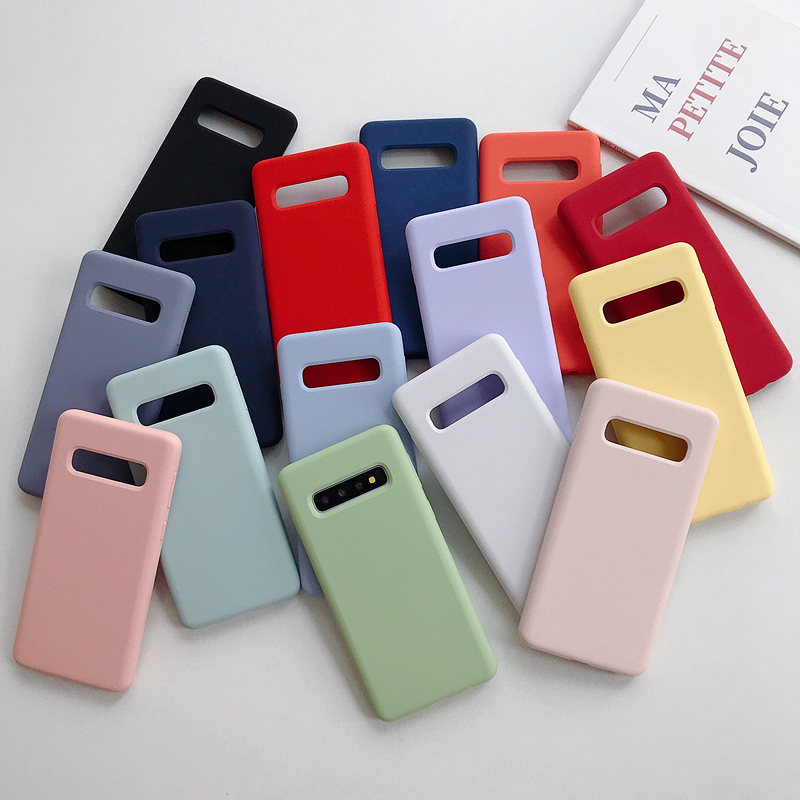 Original official Style Silicone Case For Samsung Galaxy S10 360 degrees Full Cover Plus S10e Cases