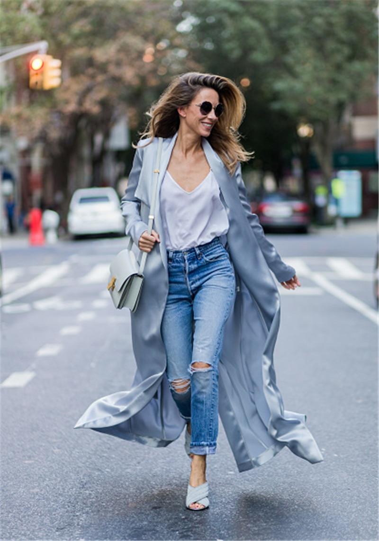 AEL Fashion Turn down Collar Skirt type Cardigan Coat Adjustable Waist Women Clothing 2017 Summer Casual