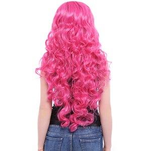 Image 5 - L e mail perücke Marke Neue 80cm Rosa Cosplay Perücken Little Pony Wärme Beständig Synthetische Haar Perucas Cosplay Perücke