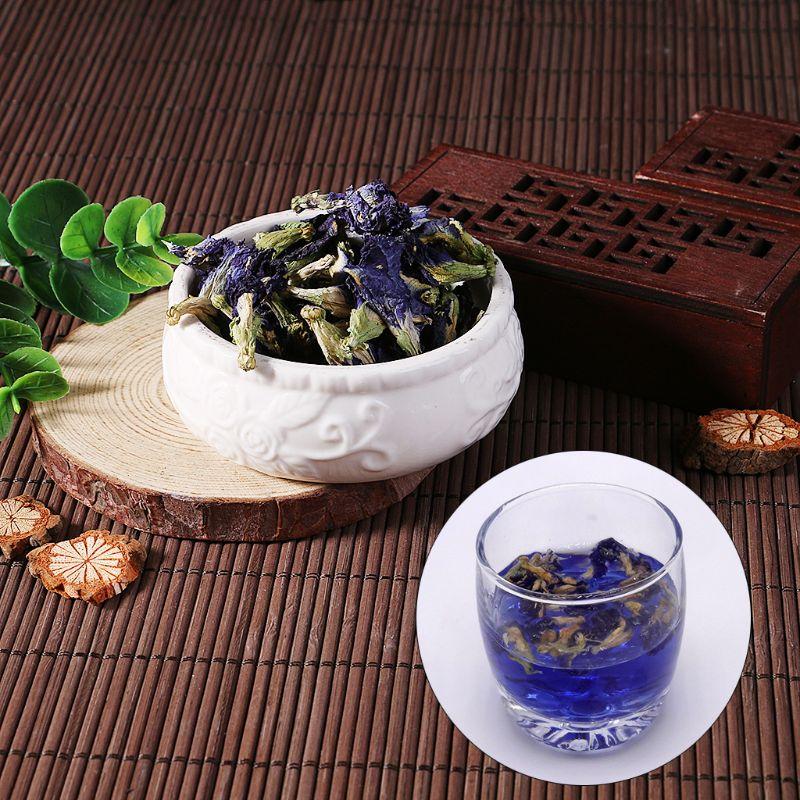 50g Tea Blue Butterfly Pea Tea Dried Clitoria Kordofan Pea Flower Tea UHJSD