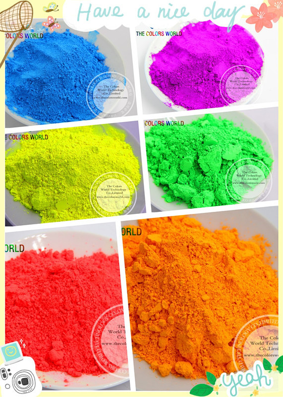 TCT-123 6 Neon Colors Fluorescent Neon Pigment Powder For Nail Polish&Painting&Printing Nail Art Decoration