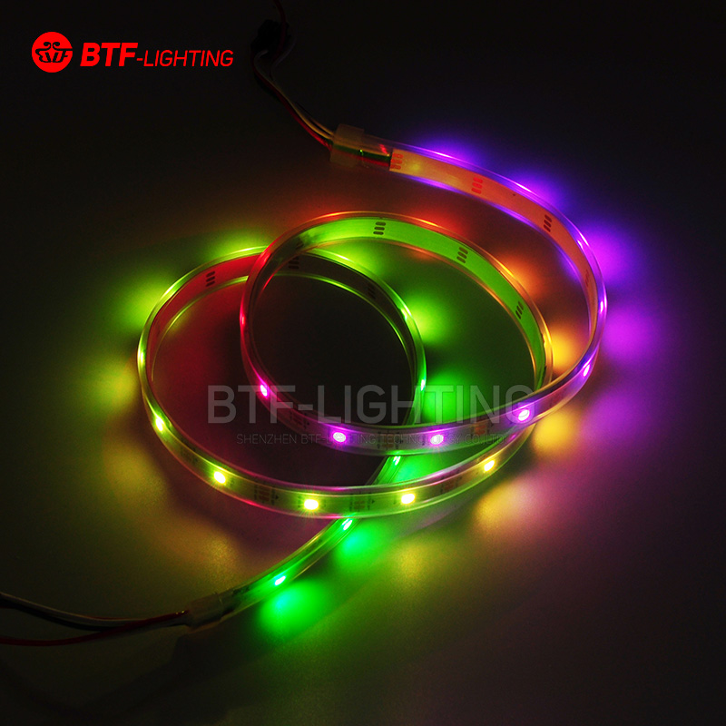 Wholesale 1M 30 LEDs Pixels Waterproof IP67 WS2812B WS2812 Addressable SMD 5050 RGB LED Flexible Strip Light DC5V