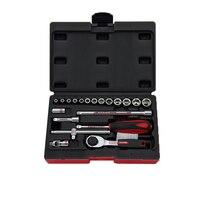 Freeship 20PCS High Quality Hand Tools set 1/4 ratchet wrench Combination Auto/bike Repair set of heads 1/4 socket set 4 14mm