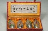 Bom velho Chinês Única Pintura garrafa de rapé dentro pintado quatro combinações imagem dos quatro belezas da mansão vermelho