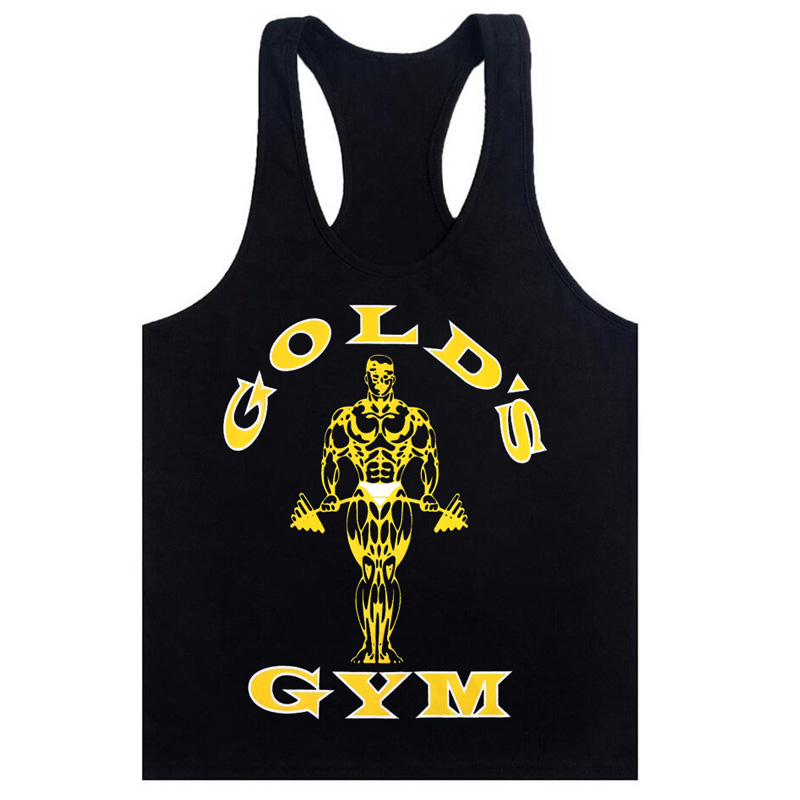 d8275d99 Golds Tank Top Men Sleeveless Shirt Bodybuilding Stringer Fitness Men's  Cotton Singlets Muscle Clothes Workout Vest B-28