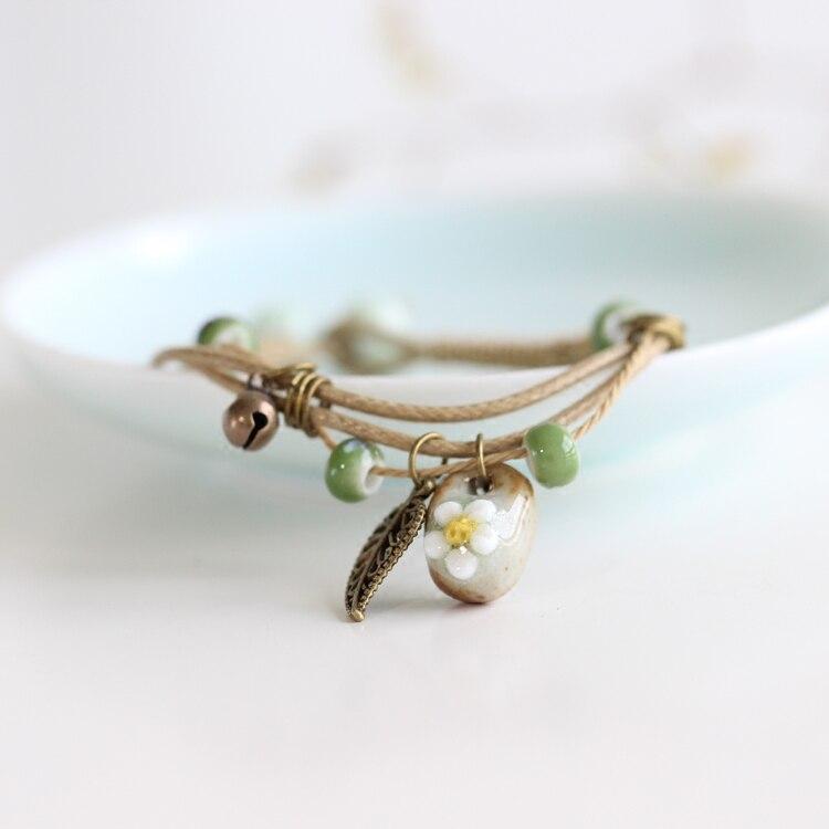 Exquisite Bohemian Floral Handmade Strand Bracelet Bracelets Jewelry Women Jewelry
