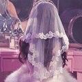Fashion Wedding Veil Two Layers Appliqued Lace Edge Short Cheap Bridal Veil