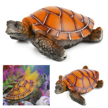Aquarium Ornaments Decoration Artificial Turtle For Fish Tank Man Made Resin Tortoise Landscaping Aquarium Accessories 2017 new