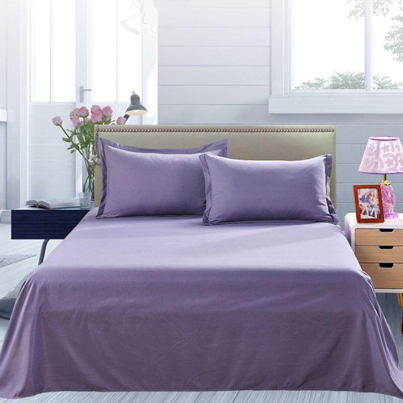 Простыня одноцветная плоская Простыня Постельное белье высокого качества постельное белье - Цвет: smoked violet