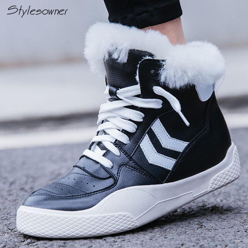 Stylesowner Women Winter Boots Non SlipSoleAnkle Snow Boots Women Platform Winter Shoes With Thick Fur Botas Mujer Sneaker ShoesStylesowner Women Winter Boots Non SlipSoleAnkle Snow Boots Women Platform Winter Shoes With Thick Fur Botas Mujer Sneaker Shoes