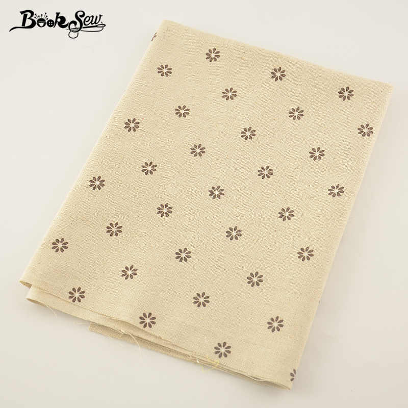Booksew Sewing Material Tissu  Home Textile Tablecloth Pillow Bag Curtain Cushion Zakka Litte Flower Design Cotton Linen Fabric