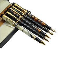 Fountain Pen M Nib Or Gel RollerBall Pen Sumptuous Amber Style 3 Colors To Choose
