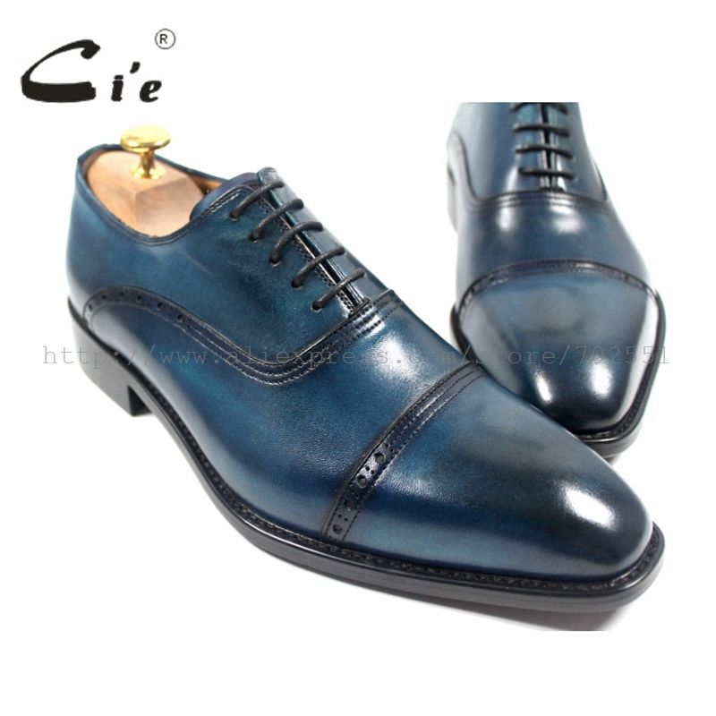 cie Free shipping bespoke custom handmade genuine calf leather upper outsole men's oxford shoe color navy OX179 adhesive craft купить часы haas lt cie mfh211 zsa
