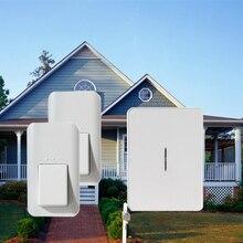 Кинетическая Беспроводной Умный дом Дверной Звонок, 2 кнопки и 1 перезвон, аккумулятор-free, водонепроницаемый, ЕС, США, ВЕЛИКОБРИТАНИЯ, беспроводной дверной звонок