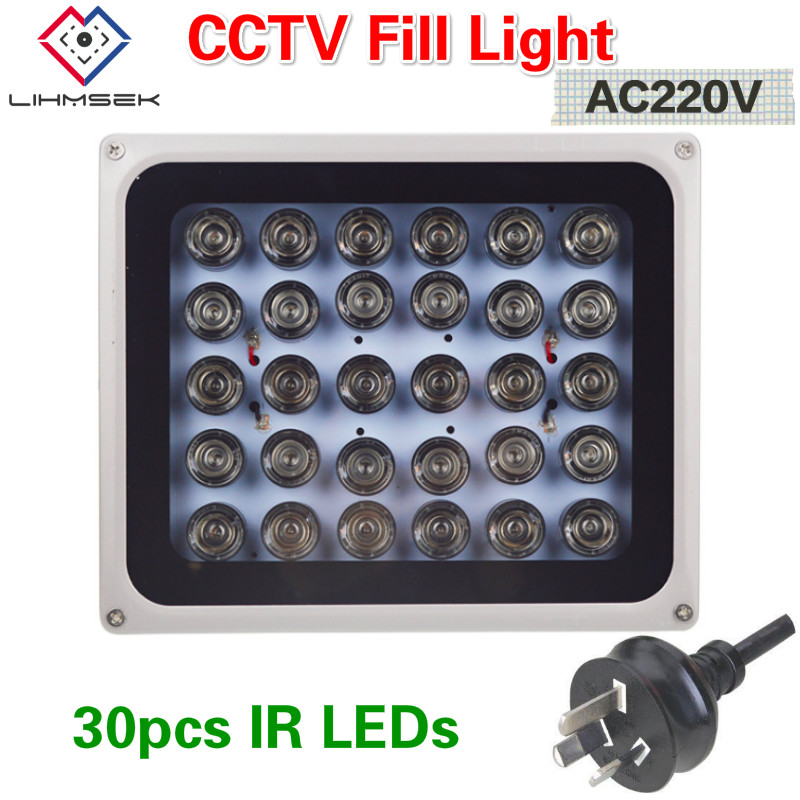 Lihmsek 30pcs IR Array LEDs illuminator Light IR Infrared Night Vision AC220V CCTV Fill Light Accessories