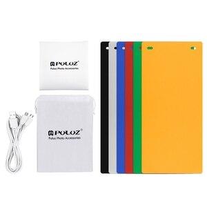 Image 4 - Mini caixa de luz dobrável para fotografia Softbox 2, estúdio de fotos, painel de iluminação em LED com lâmpada de fundo para câmera DSLR
