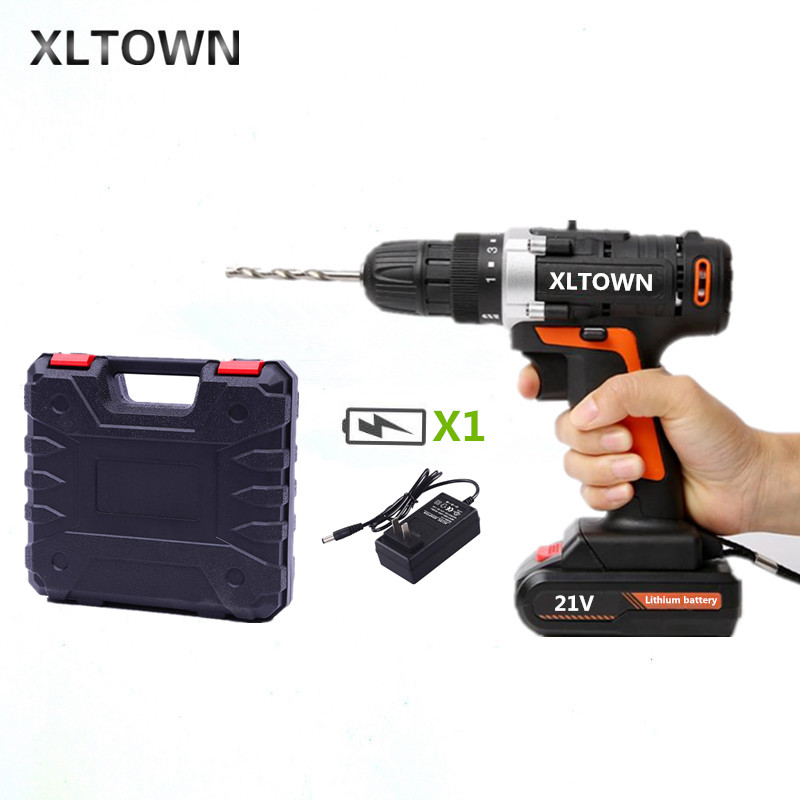 все цены на XLTOWN 21V Cordless Electric Screwdriver with a box Rechargeable Lithium Battery Hand Drill Electric Drill Power Tools онлайн