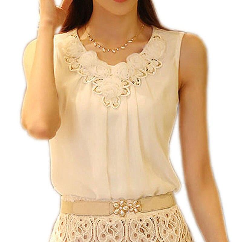 Bobokate blusas الأنثوية الشيفون بلوزة فام - ملابس نسائية
