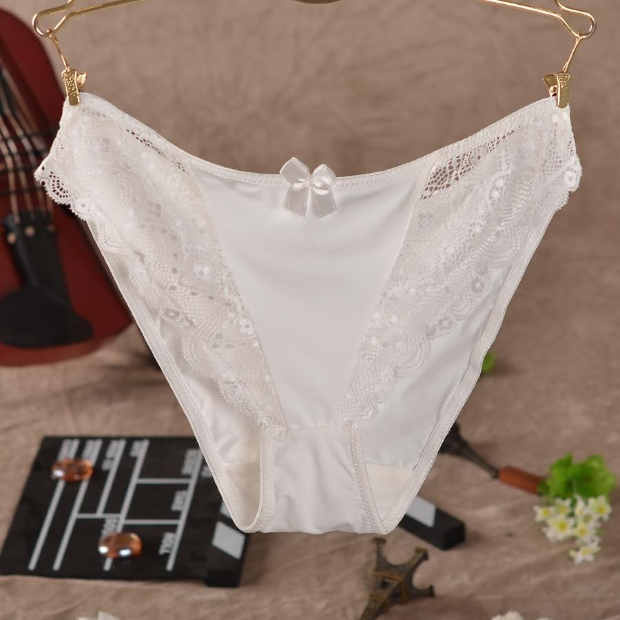 100 Silk Panties Female Pure Briefs Xxl Plus Size In Sexy Slimming Bamboo Lace Celana Dalam Moda Das Mulheres Cuecas De Renda Decorao Grande Arco Confortvel Respirvel Calcinha Tentao Transparente