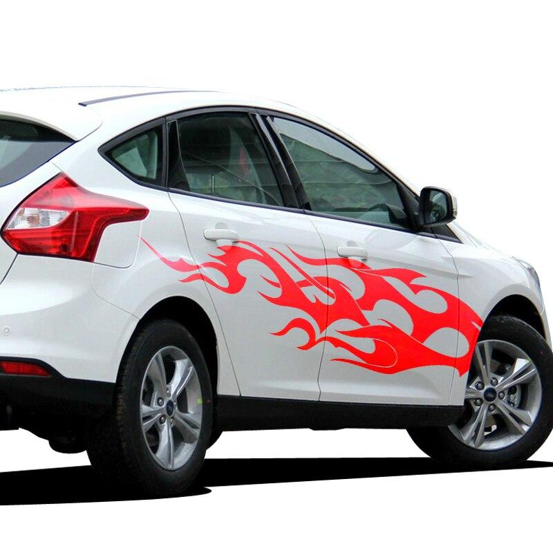 Décoration TOTEM de feu sur les voitures, autocollants et décalcomanies en vinyle auto, autocollant de colle sportive modifié pour bricolage côté voiture étanche