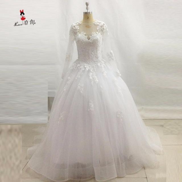Vestido de Noiva Princesa Vintage Langarm Brautkleider Türkei ...