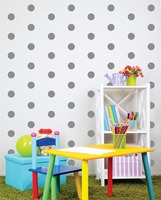 120pcs Black Tiny Polka Dots Patterned Decal VINILOS KIDS Room Decoration DIY Wall ART Modern Vinyl