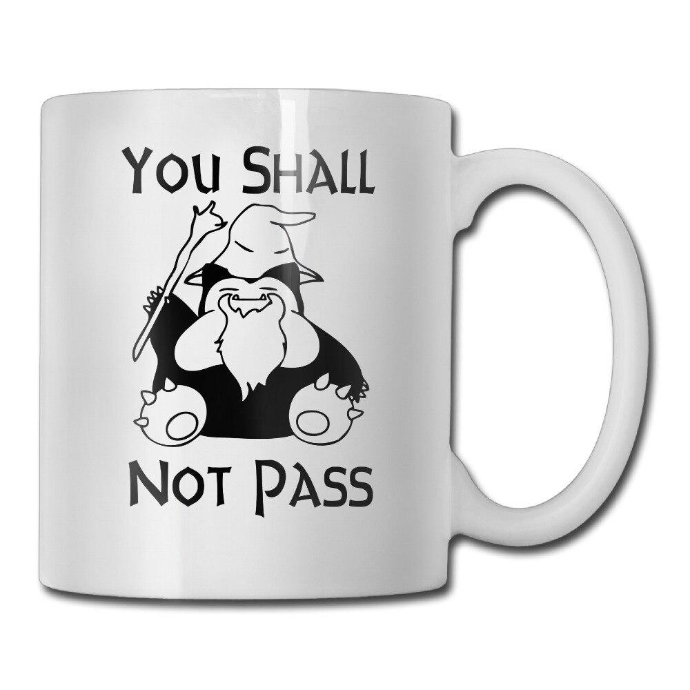 Гэндальф вы не пройдут Предупреждение знак кружка для кофе картинку вставить детей tazas керамический стакан caneca чай Чашки