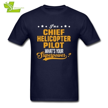 수석 헬리콥터 파일럿 T 셔츠 남성 여름 100% 코튼 티셔츠 남성 최신 빅 탑스 인기 여름 루스 아빠 티 셔츠