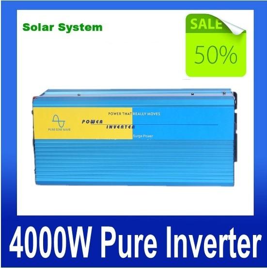 цена на 8000W Peak 4000w invertitore puro Homeuse air conditioner fridge inverter DC to AC 4000W Inverter Pure Sine Wave Power Inverter