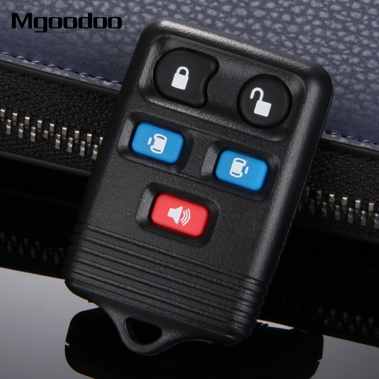 Mgoodoo 5 buttons keyless entry remote key shell case cover replacement key fob for ford freestar