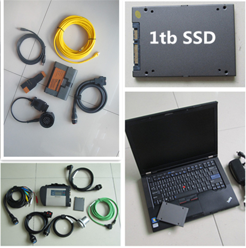 mb sd connect c4 for bmw icom a2 b c 2in1 with on laptop t410 i7 computer with HDD 1tb newest software best quality