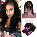 360 Lace Frontal With Bundle Curly Indian Virgin Hair With Frontal Closure 360 Lace Frontal Closure With Bundles Fast Shipping