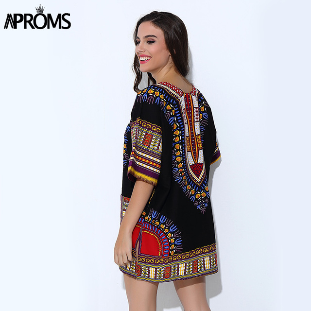 aa5ff212ffd Aproms Traditional African Clothing for Women Shirt Unisex White Classic  Cotton Dashiki Tops Plus Size Summer Print Blouses